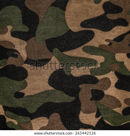 Texture of a camouflage fabric - stock photo