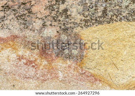 texture of a granite stone with different colors  - stock photo