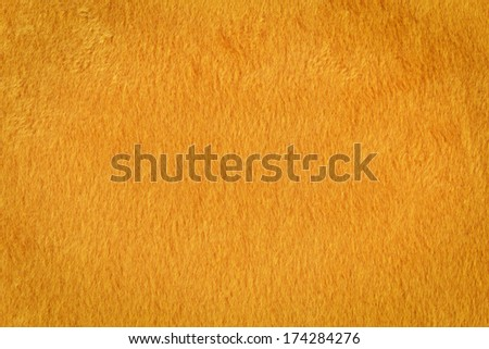 Texture of a orange artificial fur - stock photo