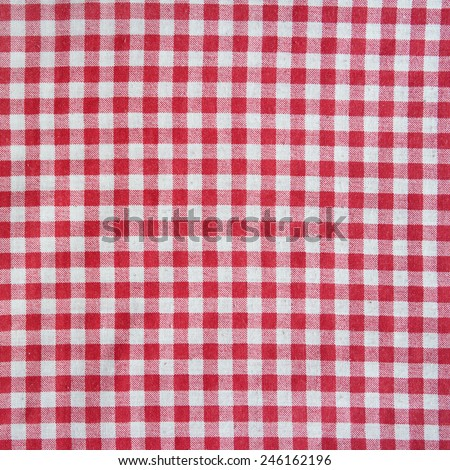 Texture Of A Red And White Checkered Tablecloth.
