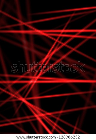 Texture of abstract red laser line rays - stock photo