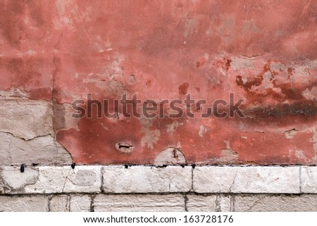 texture of an old stone wall - stock photo