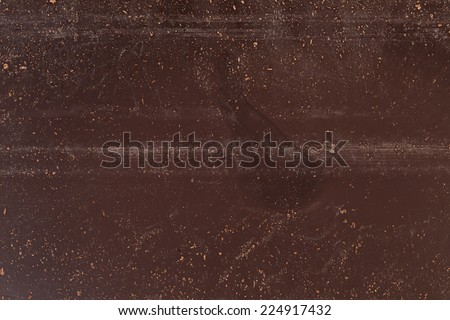 texture of back of chocolate bar, close up - stock photo