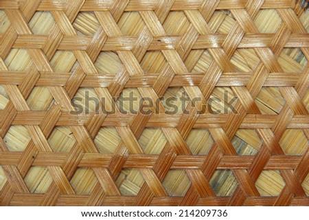Texture of Bamboo Handicraft Details - stock photo