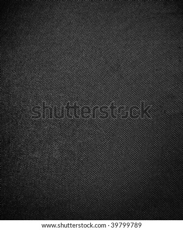 texture of black fabric background - stock photo