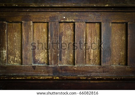 texture of black wood - stock photo