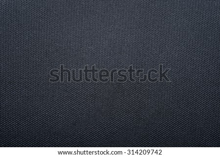 Texture of black woven synthetic waterproof fabric - stock photo