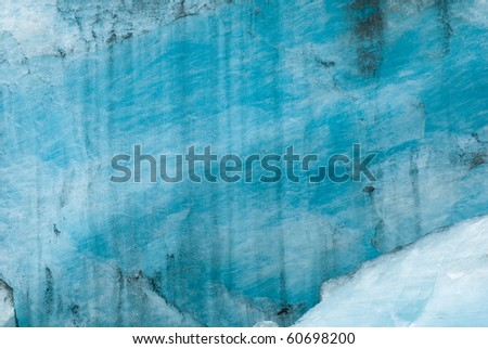 texture of blue glacier ice - stock photo