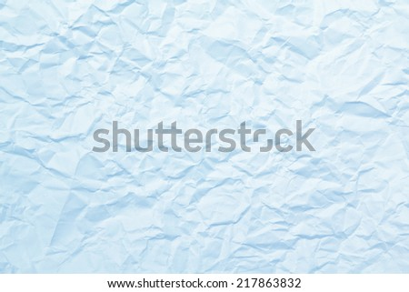 texture of blue wrinkled paper - stock photo