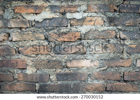 Texture of brick wall for background - stock photo