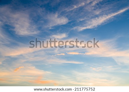 Texture of bright blue dramatic white cloud sky