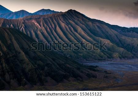 Texture of Bromo vocalno, East Java, Indonesia  - stock photo