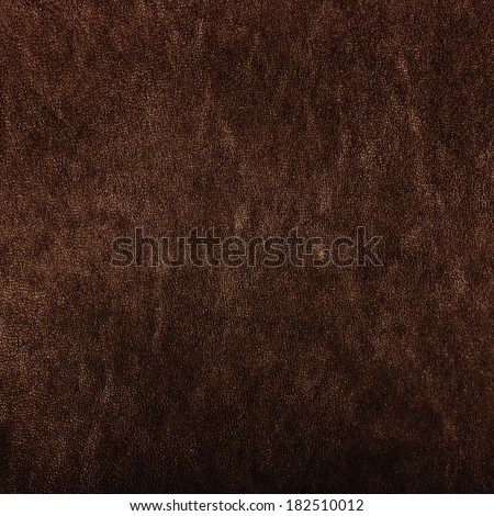 Texture of brown leather - stock photo