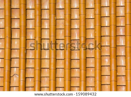 Texture of brown rooftop in the Chinese temple  - stock photo