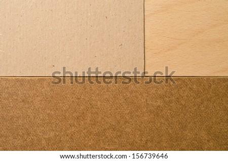 Texture of cardboard, wood, pressed cardboard   - stock photo