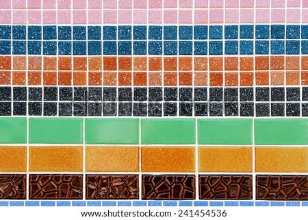 Texture of ceramic wall. - stock photo