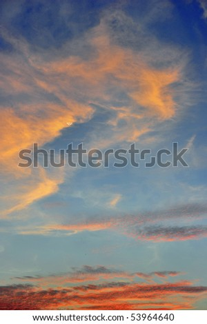 texture of cloud - stock photo