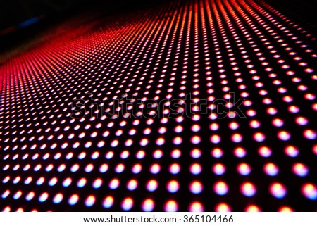 Texture of colored LED lights on a black background - stock photo