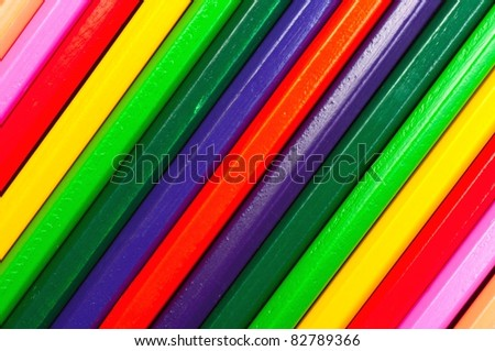Texture of colored pencils in many colors
