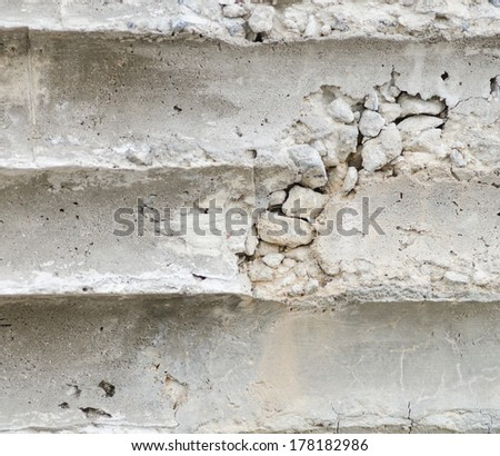 texture of crack concrete wall