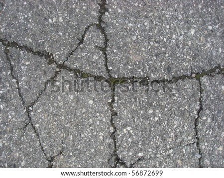 Texture of Cracks on asphalt background - stock photo