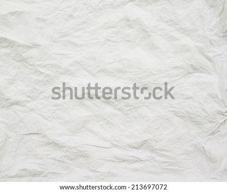 Texture of crumpled paper  background, - stock photo