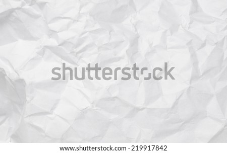 Texture of crumpled white paper for background. - stock photo