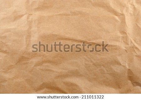 Texture of crumpled wrapping paper. - stock photo