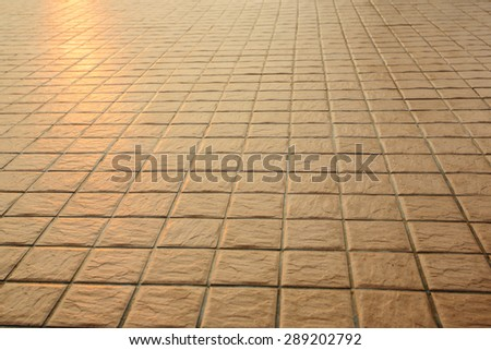 texture of cube shape tile in perspective