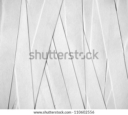 Texture of cut strips of paper sheets - stock photo