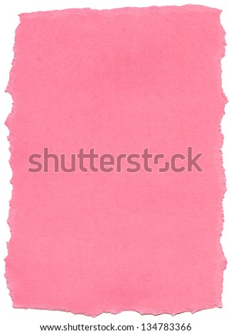 Texture of dark pink fiber paper with torn edges. - stock photo