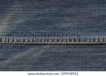 Texture of denim with macro concept. Blue jeans is the classic one fashion that all people love it. This image can apply for background,backdrop including business of clothing and artwork design. - stock photo