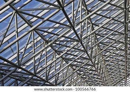 Texture of diagonal shafts - stock photo