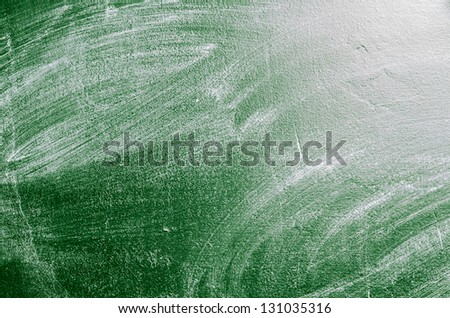 texture of erased green chalk board - stock photo