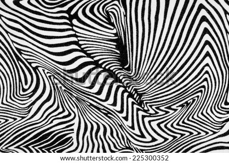 texture of fabric stripes zebra for background - stock photo