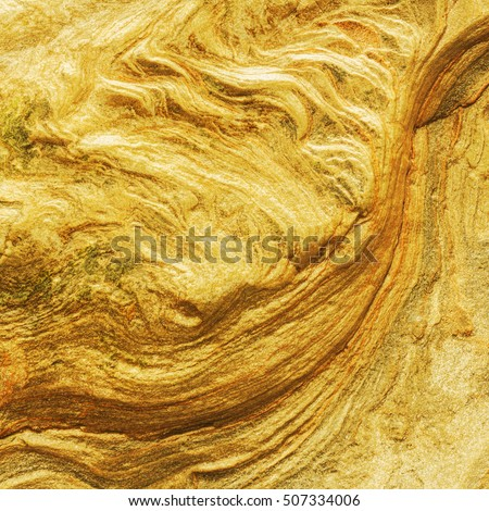 Texture of golden nugget