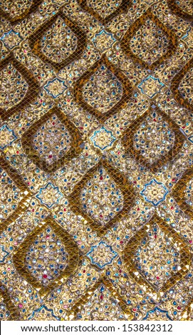 Texture of Golden Pattern of traditional Thai art,Thailand - stock photo
