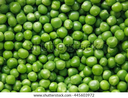 texture of green peas for background and texture, soft focus - stock photo