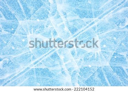 Texture of ice of Baikal lake in Siberia  - stock photo