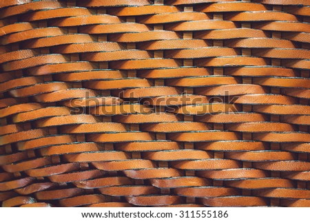 Texture of leather weave pattern - stock photo