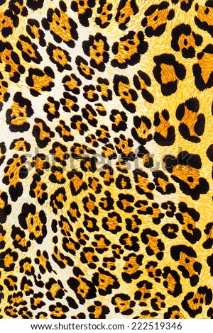 texture of leopard fabric striped for background - stock photo