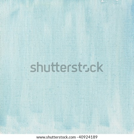 texture of light blue watercolor abstract on cotton canvas, self made - stock photo