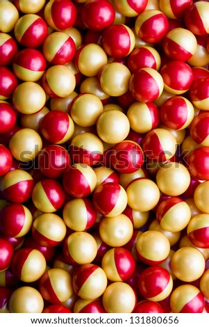 Texture of many colorful paintball - stock photo