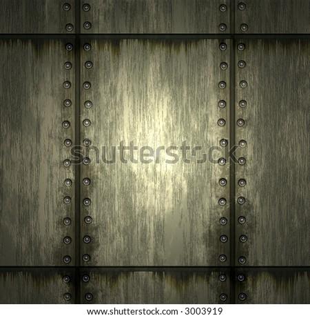Texture of metal - stock photo