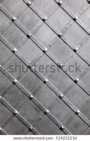 Texture of metal black stell background - stock photo
