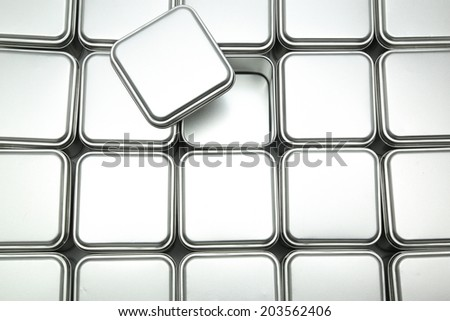 Texture of metal box - stock photo