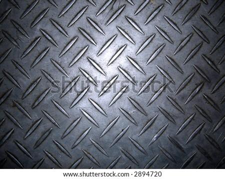 Texture of metal non-slip treads plate. - stock photo