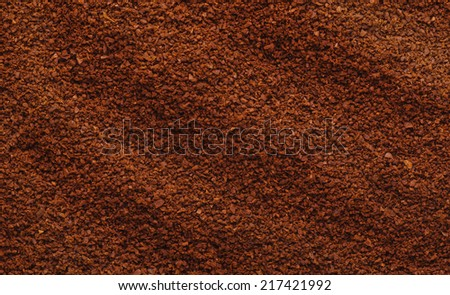Texture of natural ground coffee - stock photo