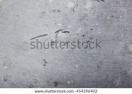 texture of old aluminum stains and scratches - stock photo