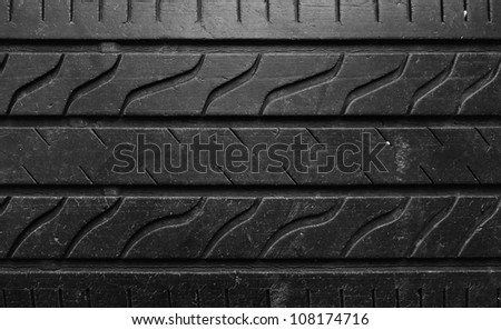 Texture of old black tires background - stock photo